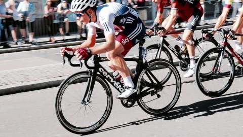 Wielerevenemt Benelux Tour in Lelystad.